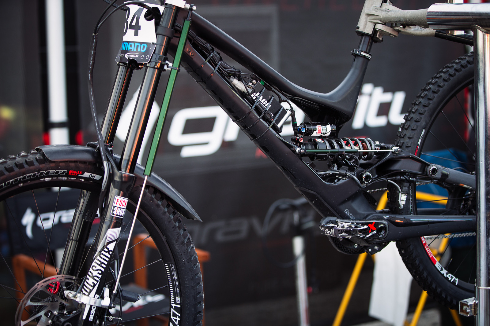 Loic Bruni's Data Acquisition Demo at BDS Fort William - PIT BITS - BDS Fort William - Mountain Biking Pictures - Vital MTB