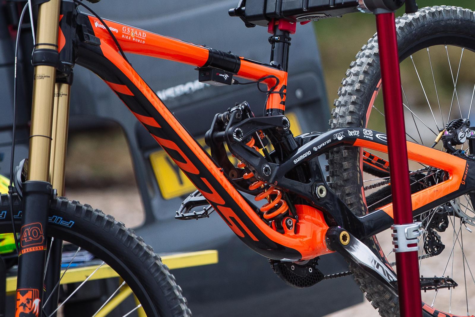 Data Acquisition on Brendan Fairclough's Gambler - PIT BITS - BDS Fort William - Mountain Biking Pictures - Vital MTB