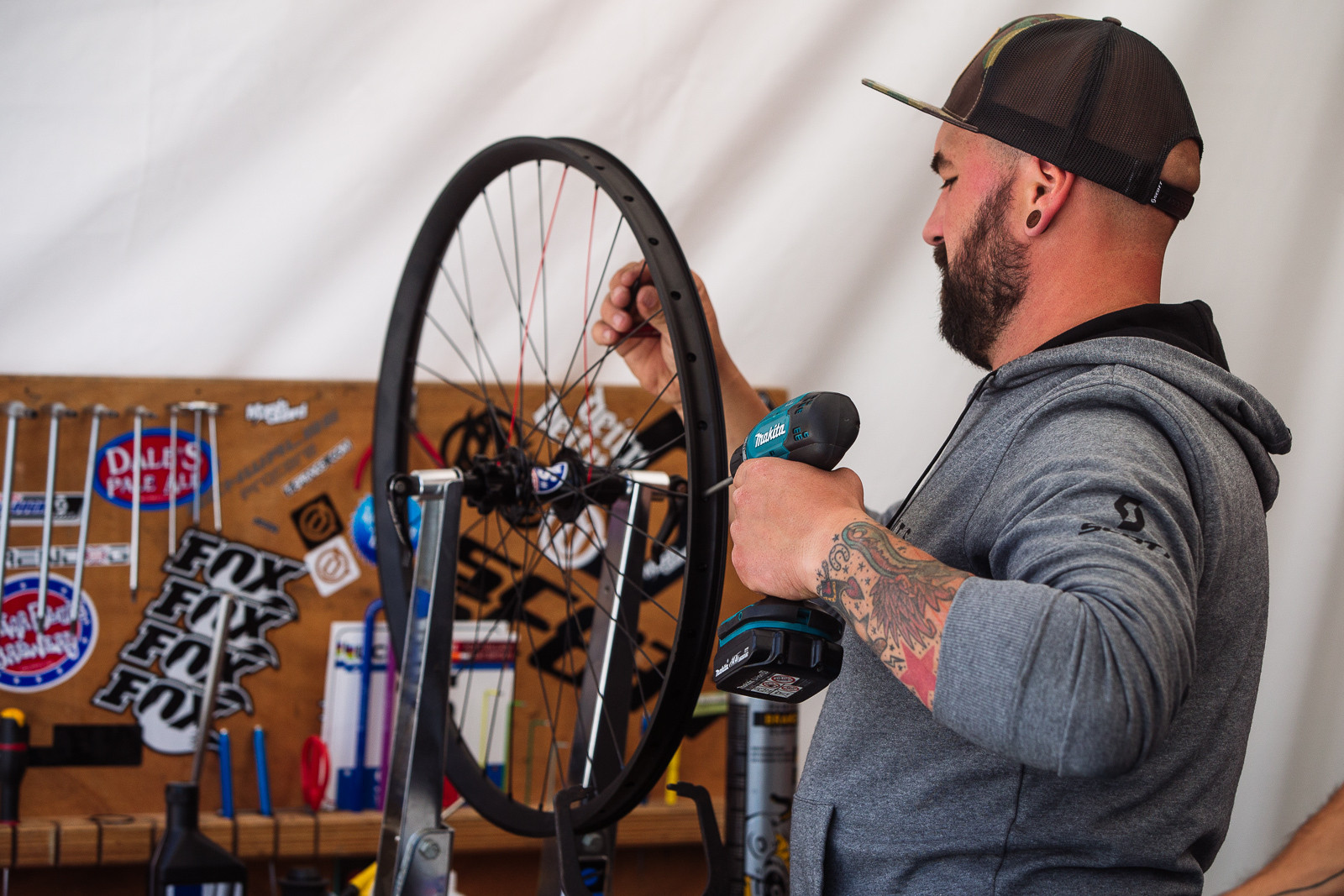 Wonder How Many Wheels Ben has Prepped? - PIT BITS - Fort William World Cup - Mountain Biking Pictures - Vital MTB
