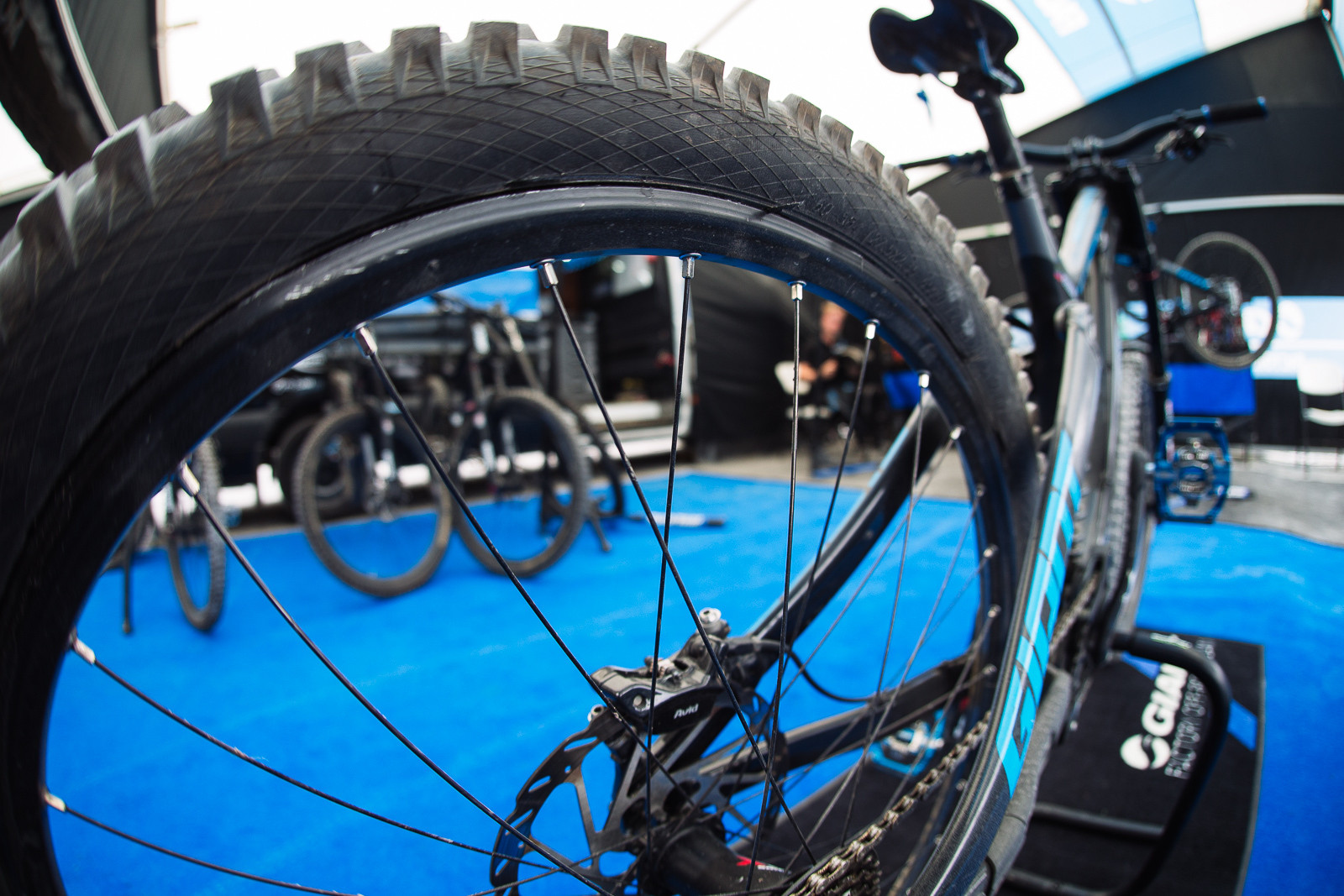 Marcelo's Rear Wheel - PIT BITS - Fort William World Cup - Mountain Biking Pictures - Vital MTB