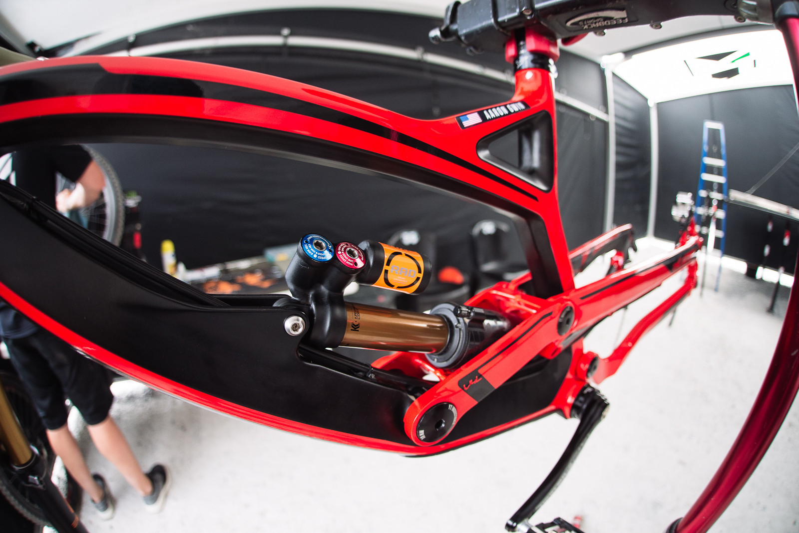 Aaron Gwin's FOX Float X2 - PIT BITS - Fort William World Cup - Mountain Biking Pictures - Vital MTB