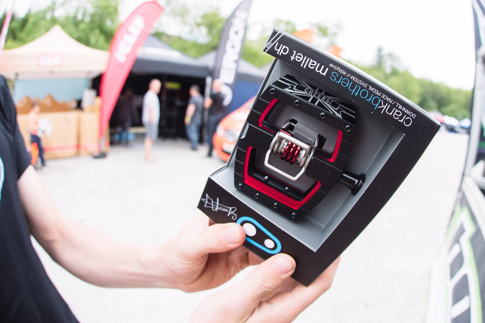 Peaty Signature Crank Brothers Mallet DH Pedals - PIT BITS - Fort William World Cup - Mountain Biking Pictures - Vital MTB
