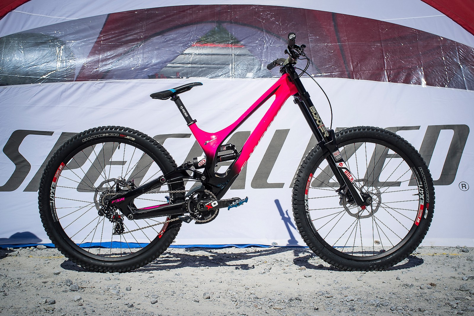 Troy Brosnan's Custom-Painted Specialized S-Works Demo for Fort William - PIT BITS - Fort William World Cup - Mountain Biking Pictures - Vital MTB