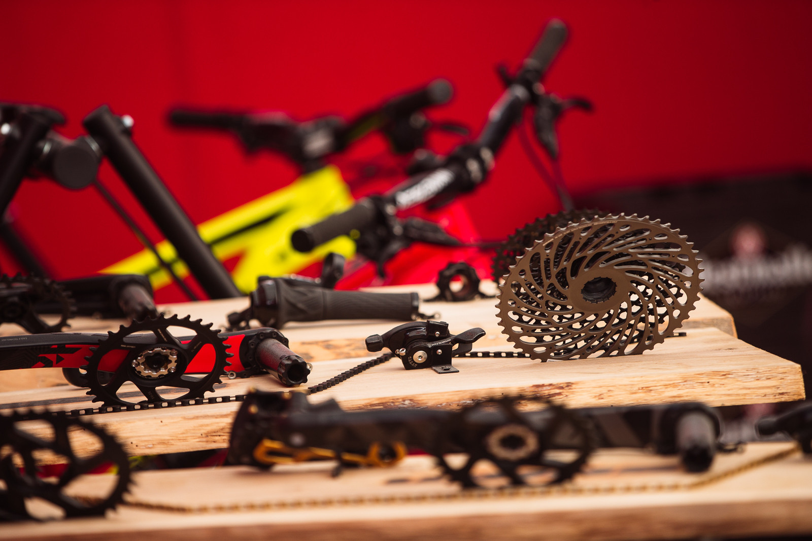 SRAM Eagle on Display - PIT BITS - Fort William World Cup - Mountain Biking Pictures - Vital MTB
