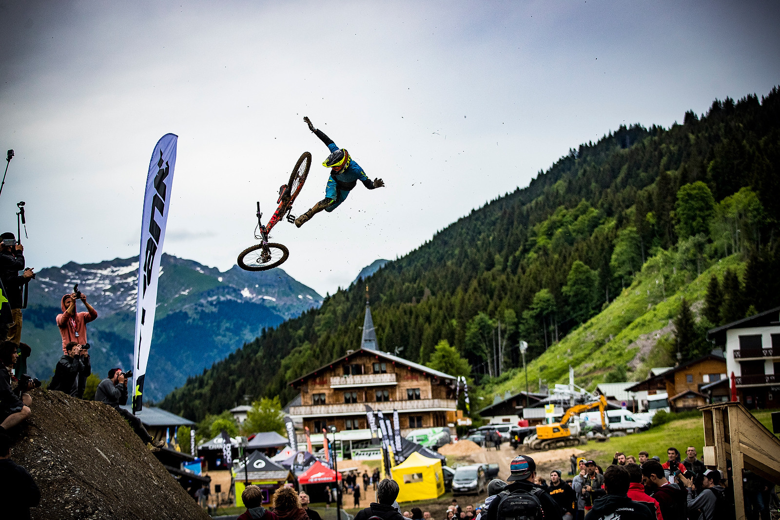 Doing it Wrong - Whip Off Madness from Crankworx Les Gets - Mountain Biking Pictures - Vital MTB