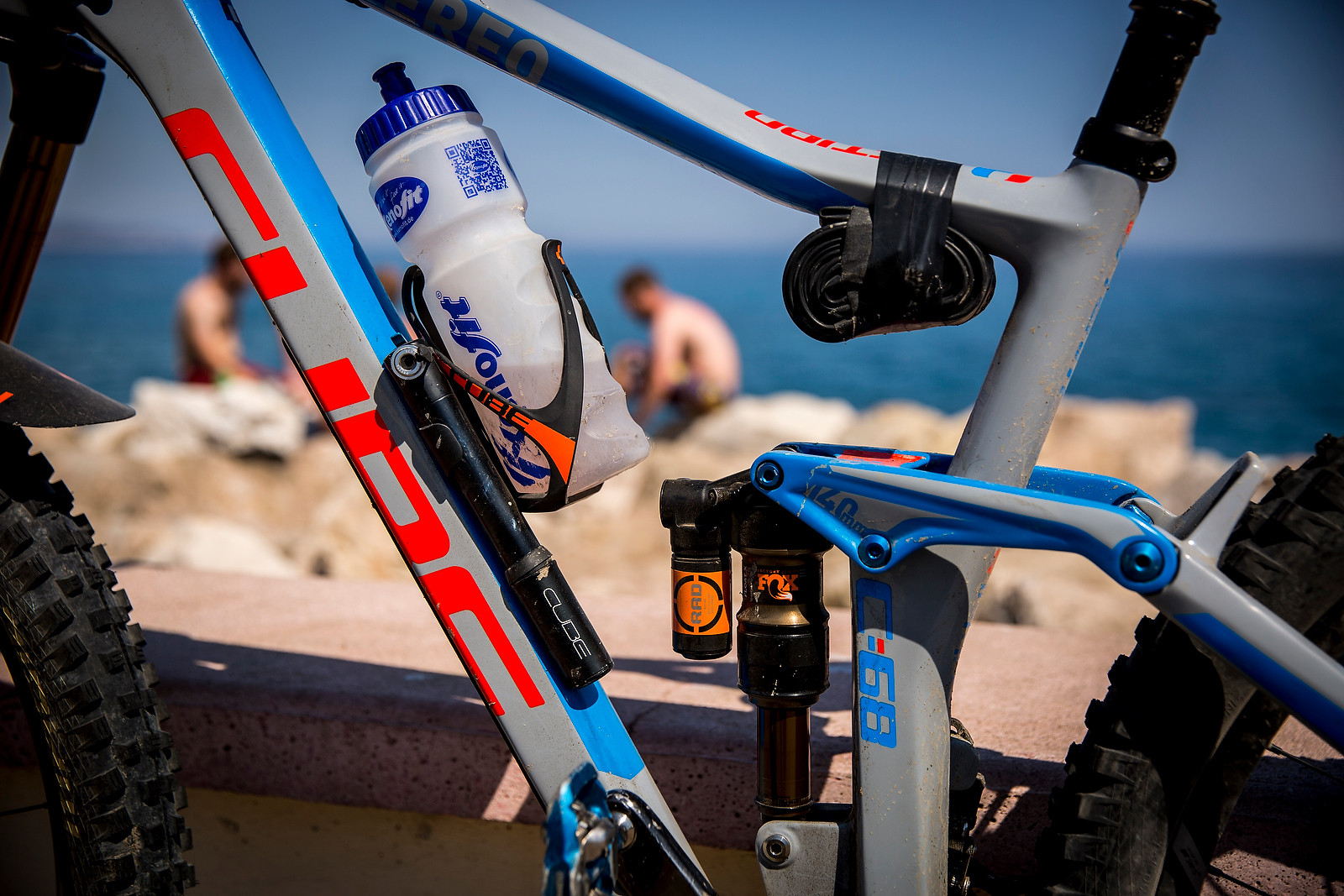 Bottle, Pump and Tube On-board - WINNING BIKE: Nico Lau's Cube Stereo 140 29 - Mountain Biking Pictures - Vital MTB
