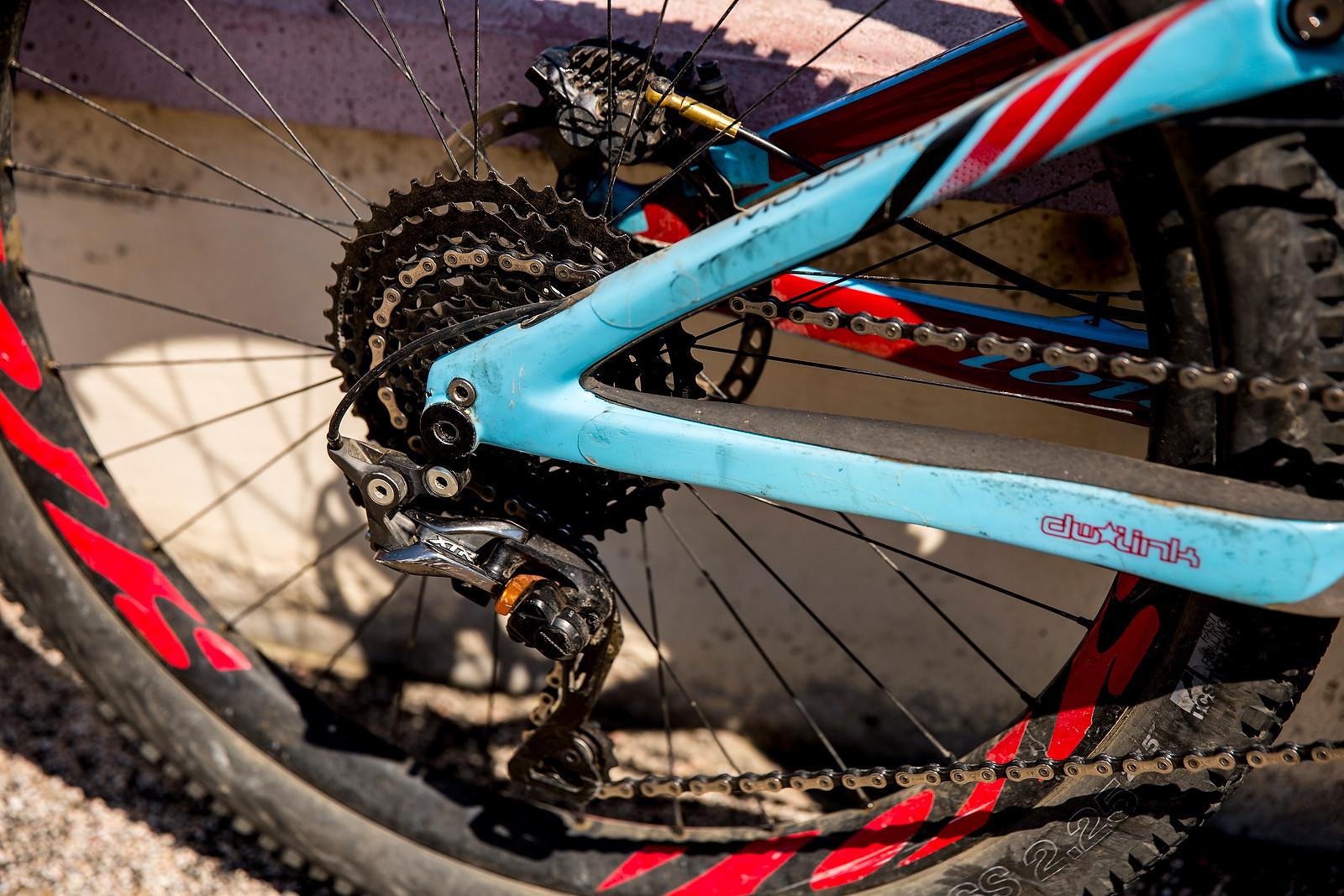 Shimano XTR Rear Derailleur, e*thirteen TRS+ Cassette - WINNING BIKE: Anita Gehrig's Ibis Mojo HD3 - Mountain Biking Pictures - Vital MTB