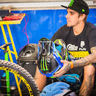 Sam Hill with his Leatt GPX Helmet