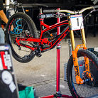 Aaron Gwin's YT Tues with New Orange FOX 40