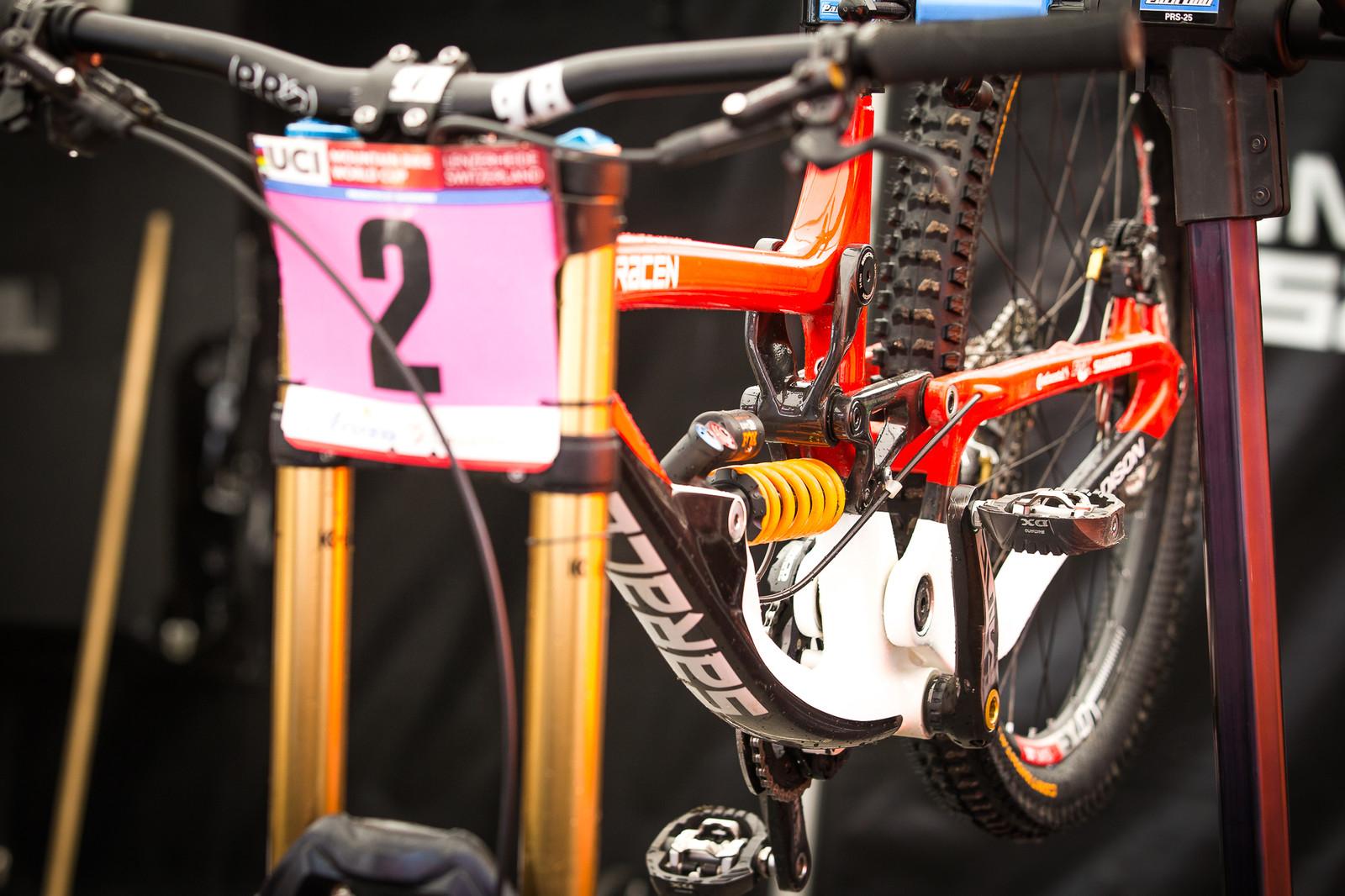Manon Carpenter's Saracen Myst - PIT BITS - Lenzerheide World Cup - Mountain Biking Pictures - Vital MTB