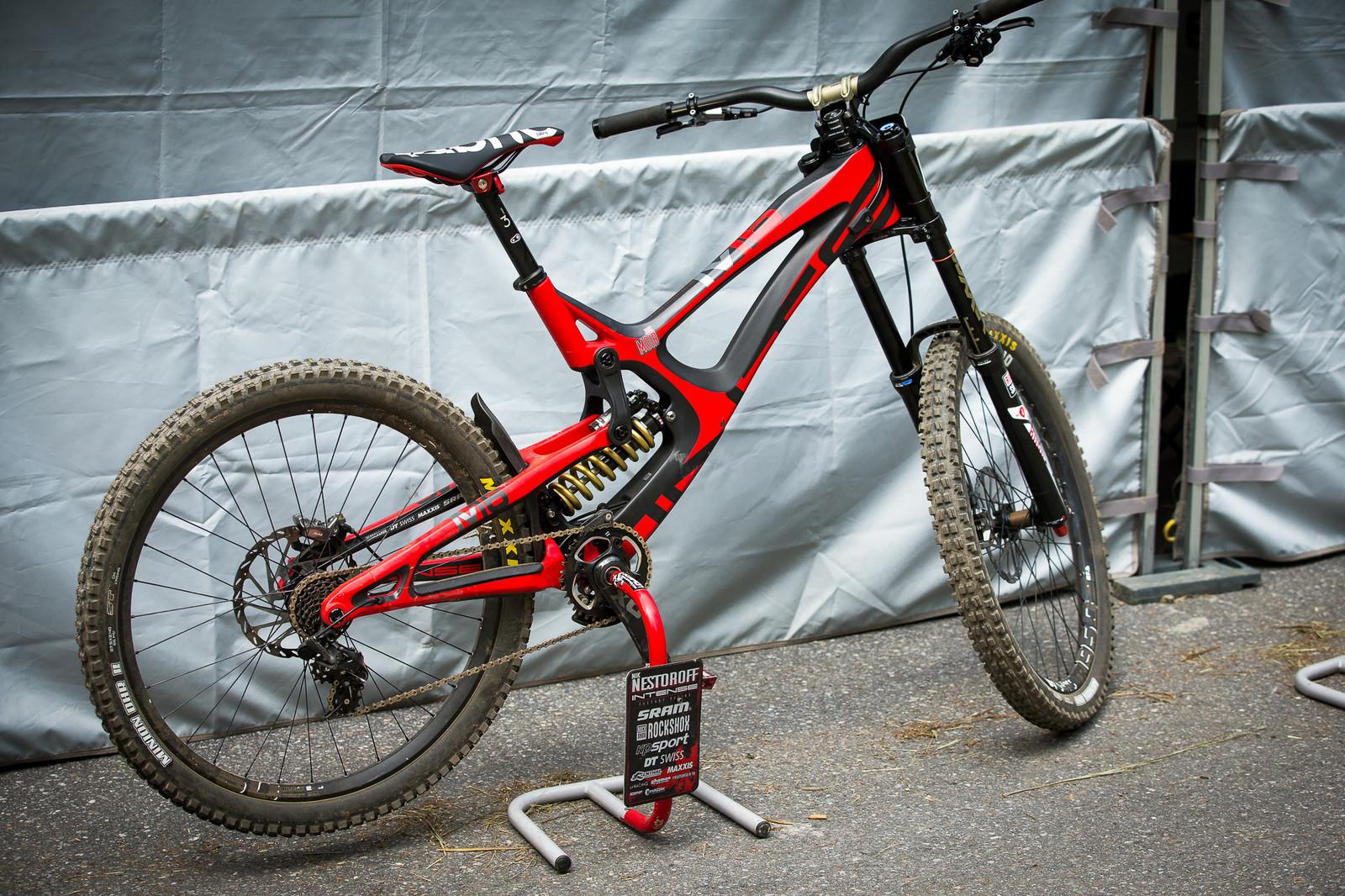 Jack Moir's Intense M16c - PIT BITS - Lenzerheide World Cup - Mountain Biking Pictures - Vital MTB