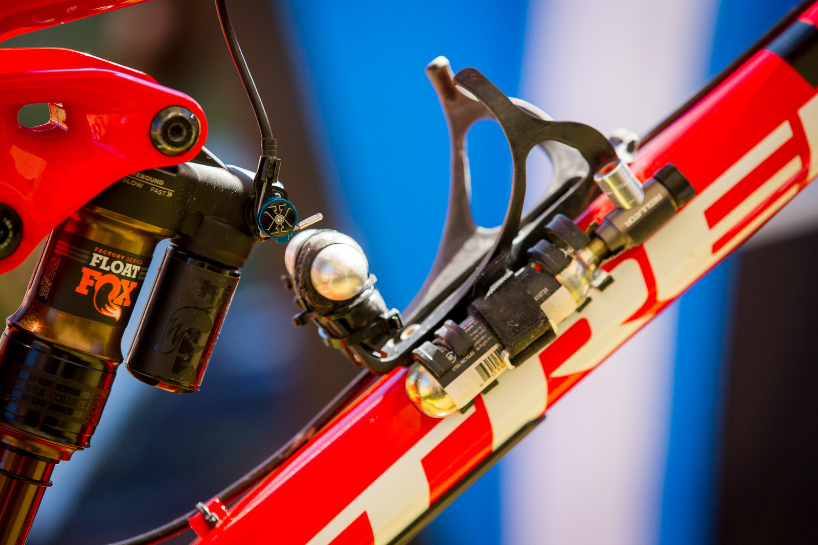 Rene Wildhaber's Fox Float Lockout and Flat Tire Plug and CO2 Set-up - PIT BITS - Enduro World Series, La Thuile, Italy - Mountain Biking Pictures - Vital MTB