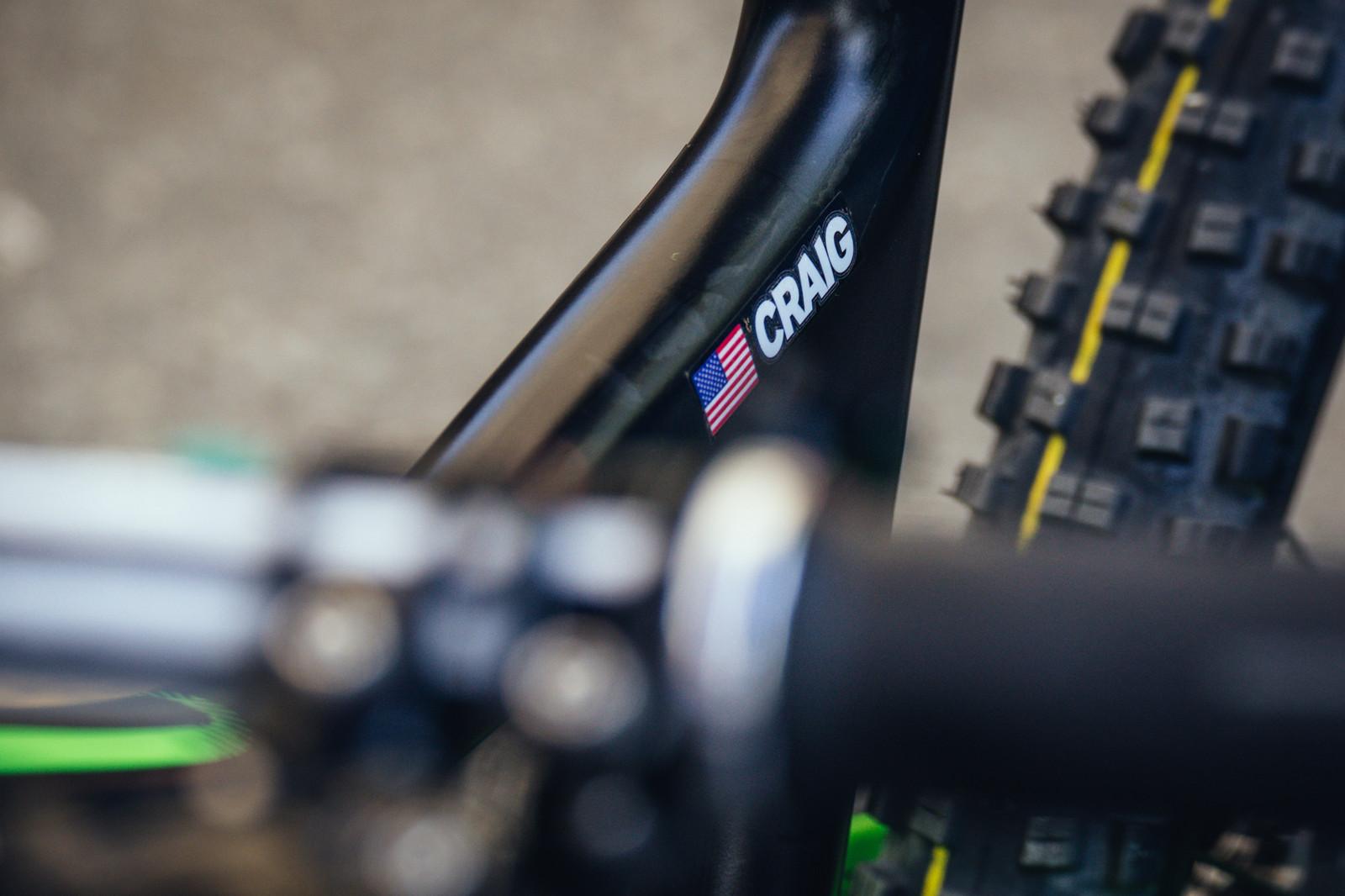Adam Craig's Giant Trance Advanced - PIT BITS - Enduro World Series, Whistler - Mountain Biking Pictures - Vital MTB