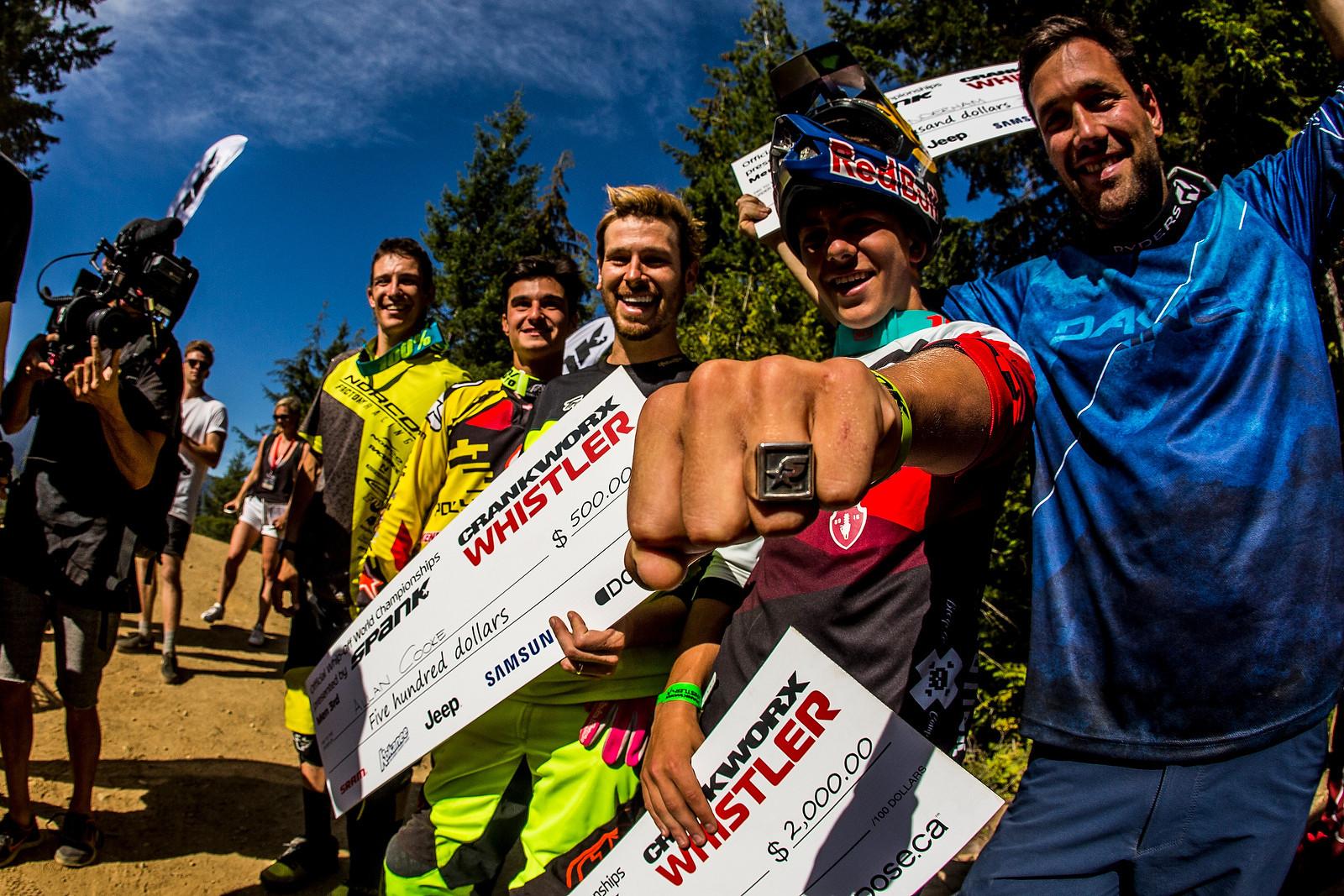Whip Off Podium - Whip Off World Champs Photo Blast - Mountain Biking Pictures - Vital MTB