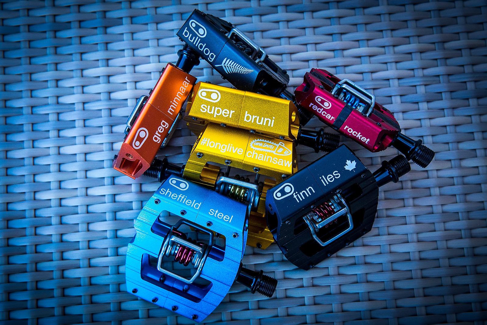 Crankbrothers Custom World Champs Pedals - PIT BITS & BIKES - 2016 World Champs - Mountain Biking Pictures - Vital MTB