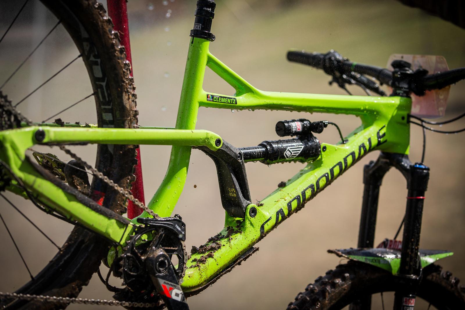 Jerome Clementz's prototype Cannondale. - PIT BITS - Enduro World Series, Valberg - Mountain Biking Pictures - Vital MTB