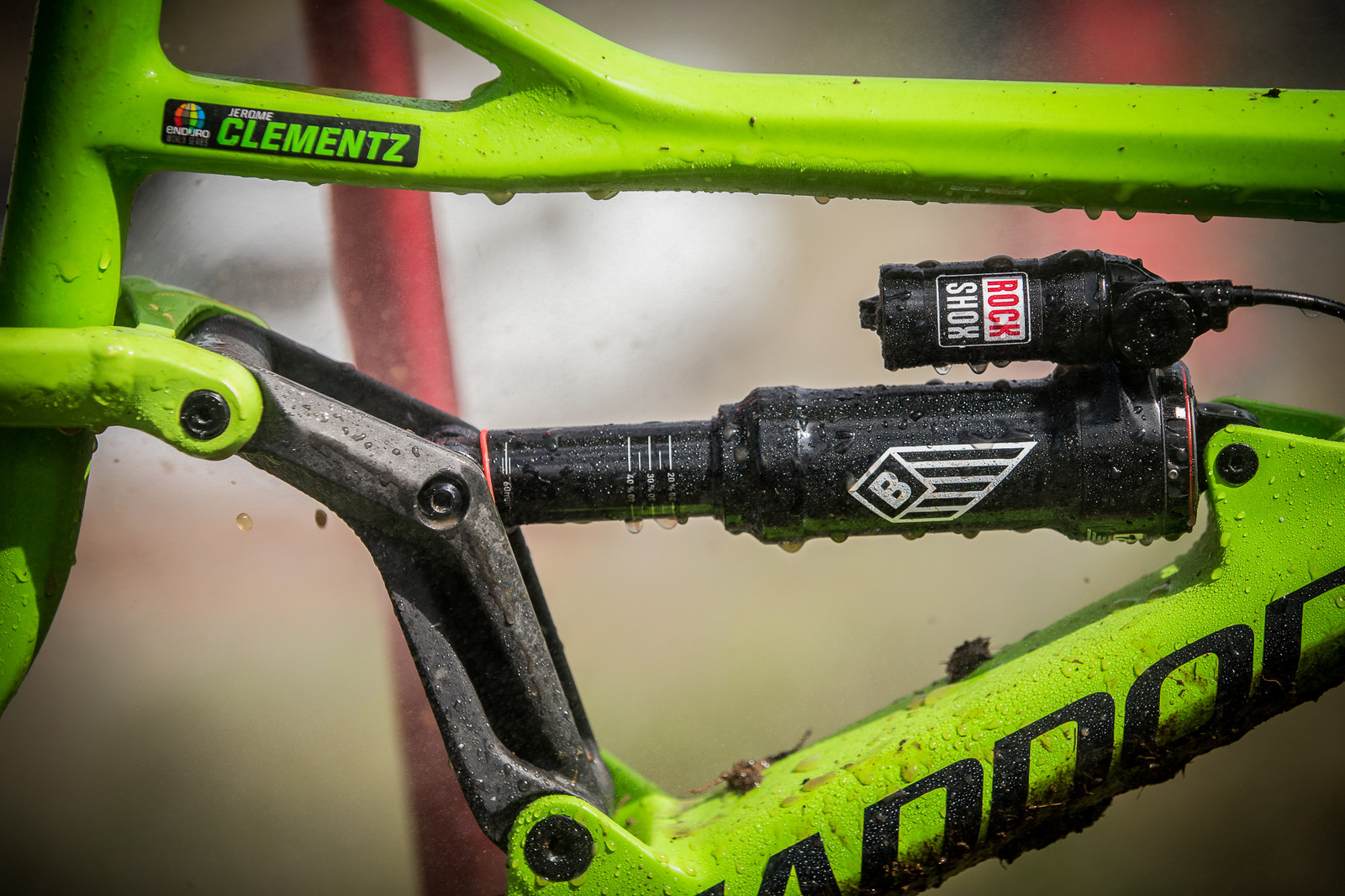 Jerome Clementz's prototype Cannondale. - PIT BITS - Enduro World Series, Valberg - Mountain Biking Pictures - Vital MTB