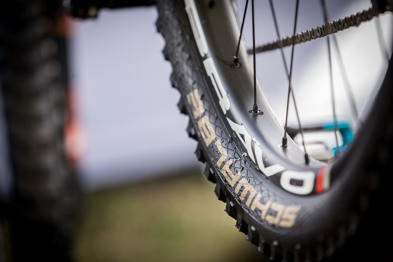 Wide carbon rims on Martin Maes's GT