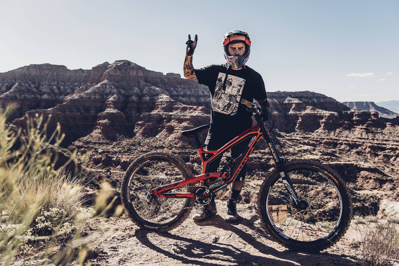 Andreu Lacondeguy with his YT Tues - Pro Bikes - Red Bull Rampage - Mountain Biking Pictures - Vital MTB