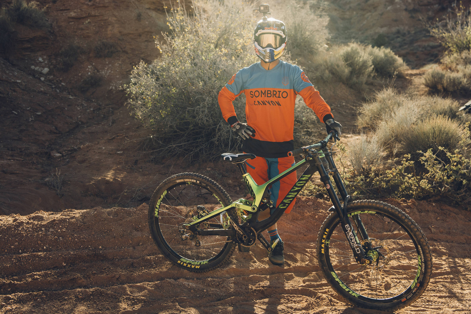 Darren Berrecloth with his Canyon Sender - Pro Bikes - Red Bull Rampage - Mountain Biking Pictures - Vital MTB