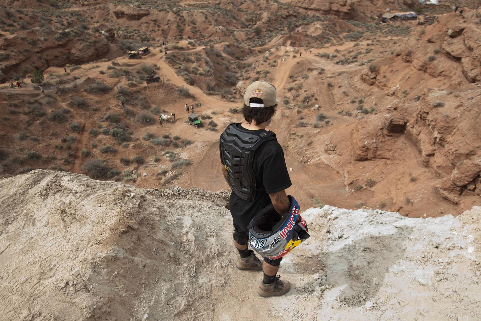 Andreu Ponders - Going Big at Rampage - Line Testing - Mountain Biking Pictures - Vital MTB