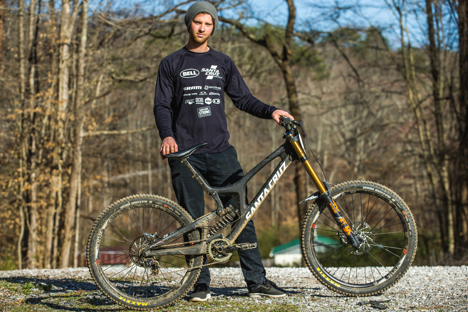 Pro GRT Pro Bike - Kiran MacKinnon's XXL Santa Cruz V10c - Pro Bikes from Windrock Pro GRT - Mountain Biking Pictures - Vital MTB