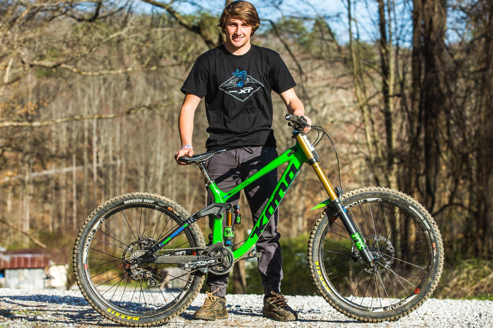Pro GRT Pro Bike - Nate St. Claire's Kona Supreme Operator - Pro Bikes from Windrock Pro GRT - Mountain Biking Pictures - Vital MTB