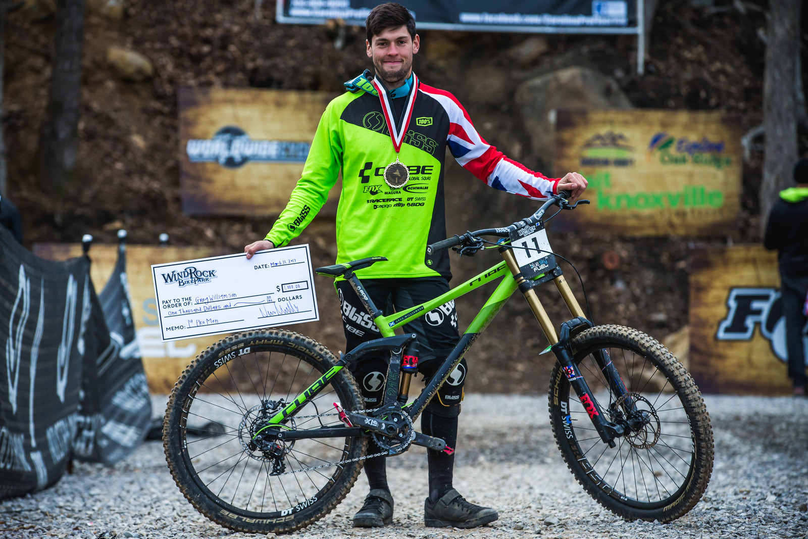 WINNER'S CIRCLE Pro GRT Windrock - Greg Williamson with his Cube TWO15 - WINNER'S CIRCLE - Pro GRT Windrock - Mountain Biking Pictures - Vital MTB