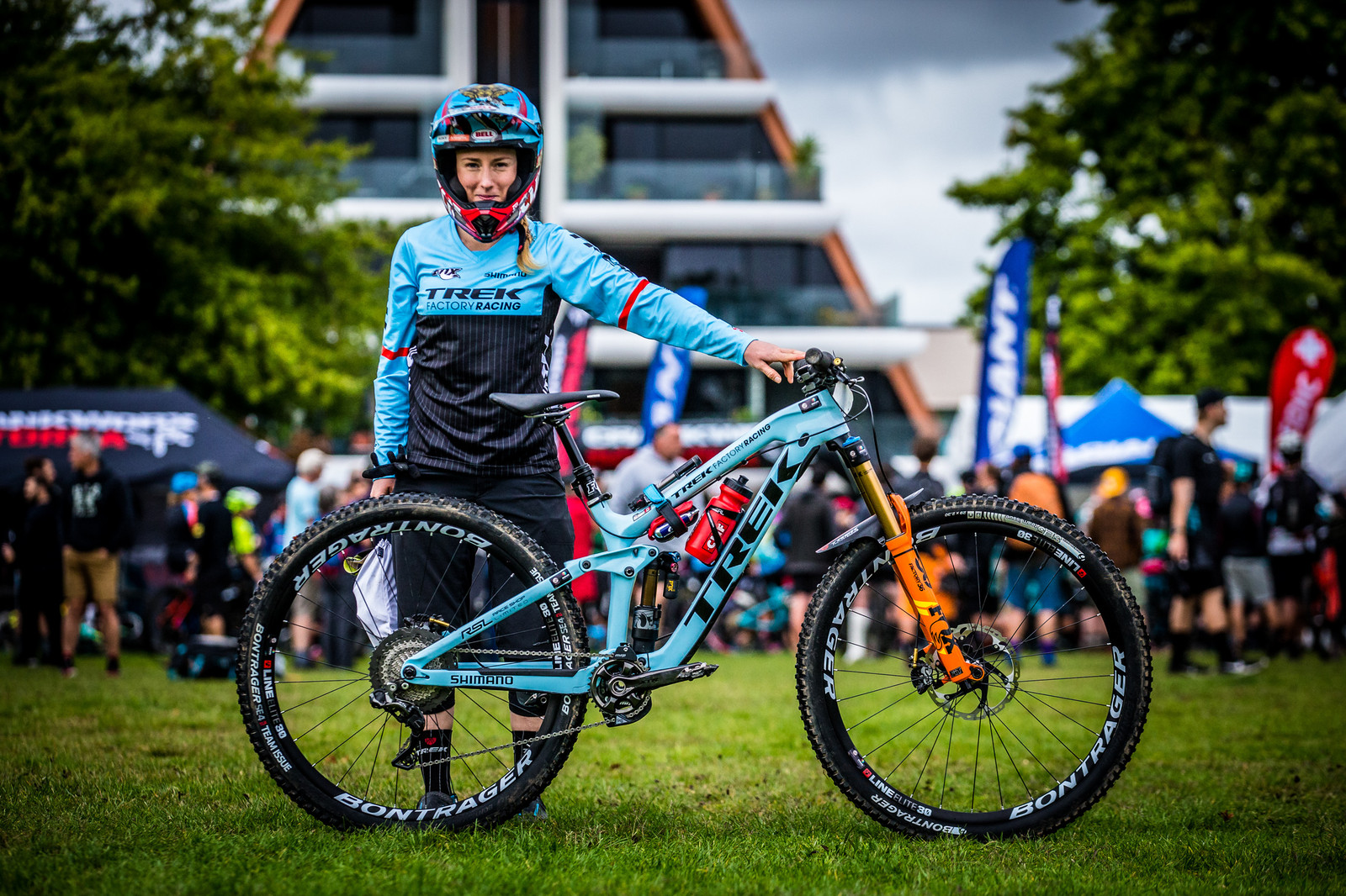 Casey Brown and her Trek Slash 29 - PIT BITS - Enduro World Series, Rotorua, New Zealand - Mountain Biking Pictures - Vital MTB