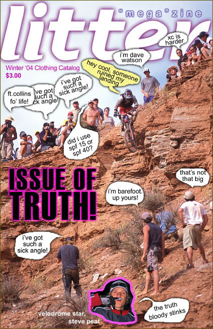 Ahh, the good old days. Shandro on the Cover - Littermag's 2003 Red Bull Rampage - Mountain Biking Pictures - Vital MTB