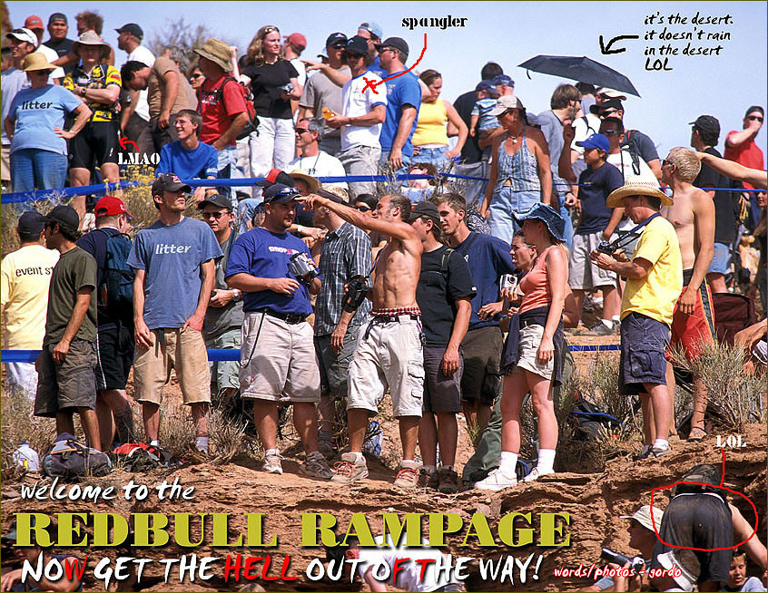 Fun with photos - Littermag's 2003 Red Bull Rampage - Mountain Biking Pictures - Vital MTB