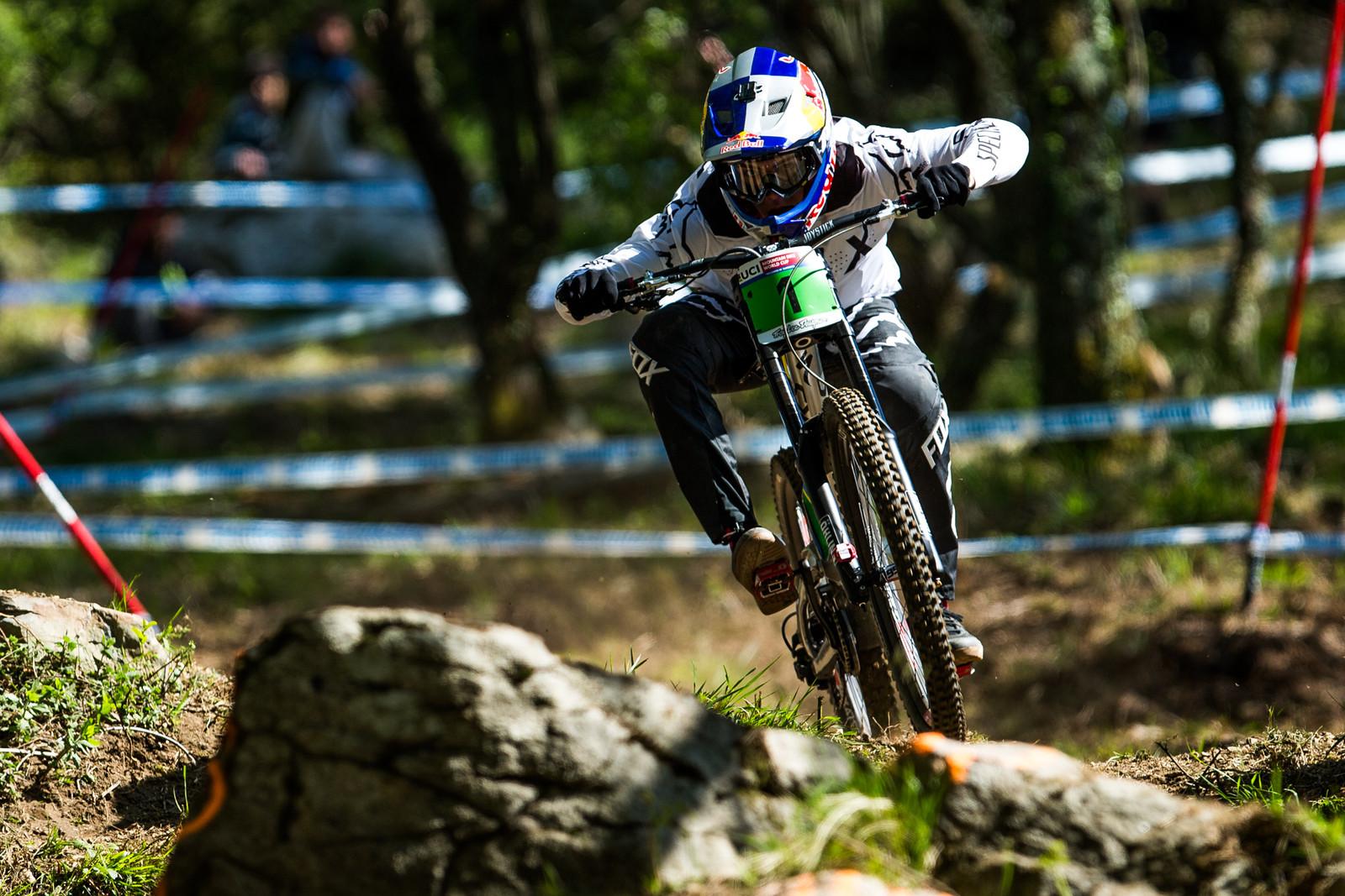 Finn Iles - Lourdes World Cup Timed Training Action Photos - Mountain Biking Pictures - Vital MTB