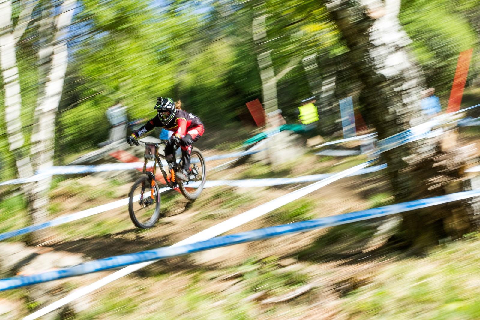 Manon Carpenter - Lourdes World Cup Timed Training Action Photos - Mountain Biking Pictures - Vital MTB