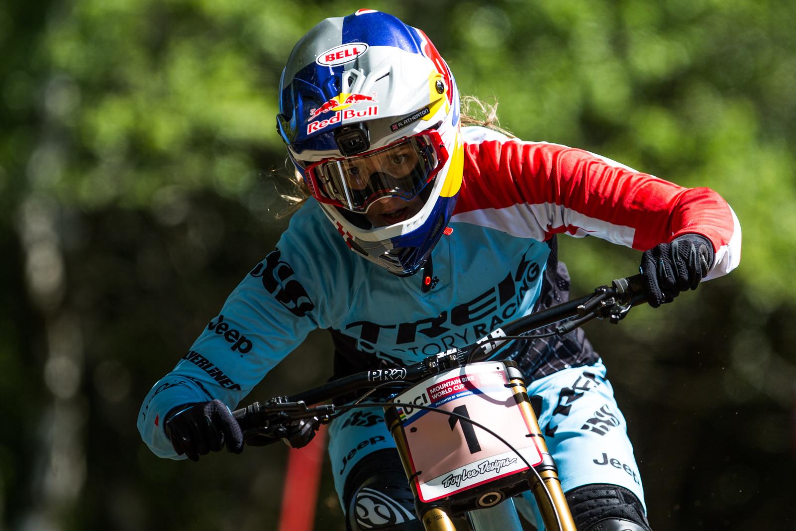 Rachel Atherton - Lourdes World Cup Timed Training Action Photos - Mountain Biking Pictures - Vital MTB