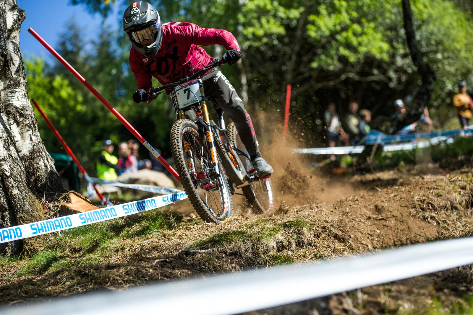 Loris Vergier - Lourdes World Cup Timed Training Action Photos - Mountain Biking Pictures - Vital MTB