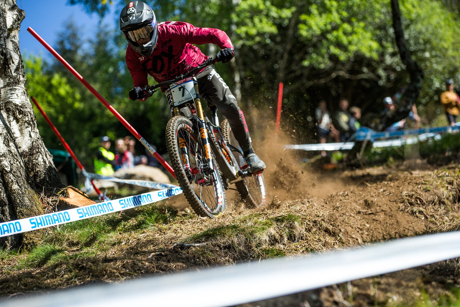 Loris Vergier - Lourdes World Cup Timed Training Action Photos - Mountain Biking Pictures - Vital MTB