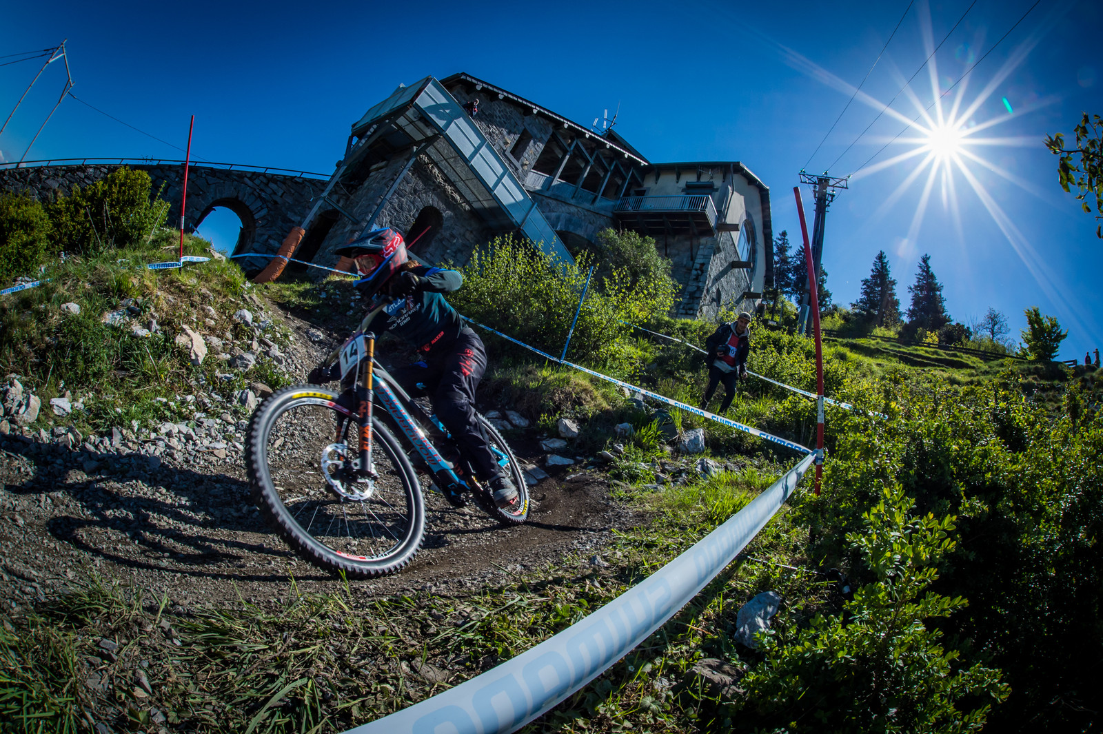 Laurie Greenland - Lourdes World Cup Timed Training Action Photos - Mountain Biking Pictures - Vital MTB
