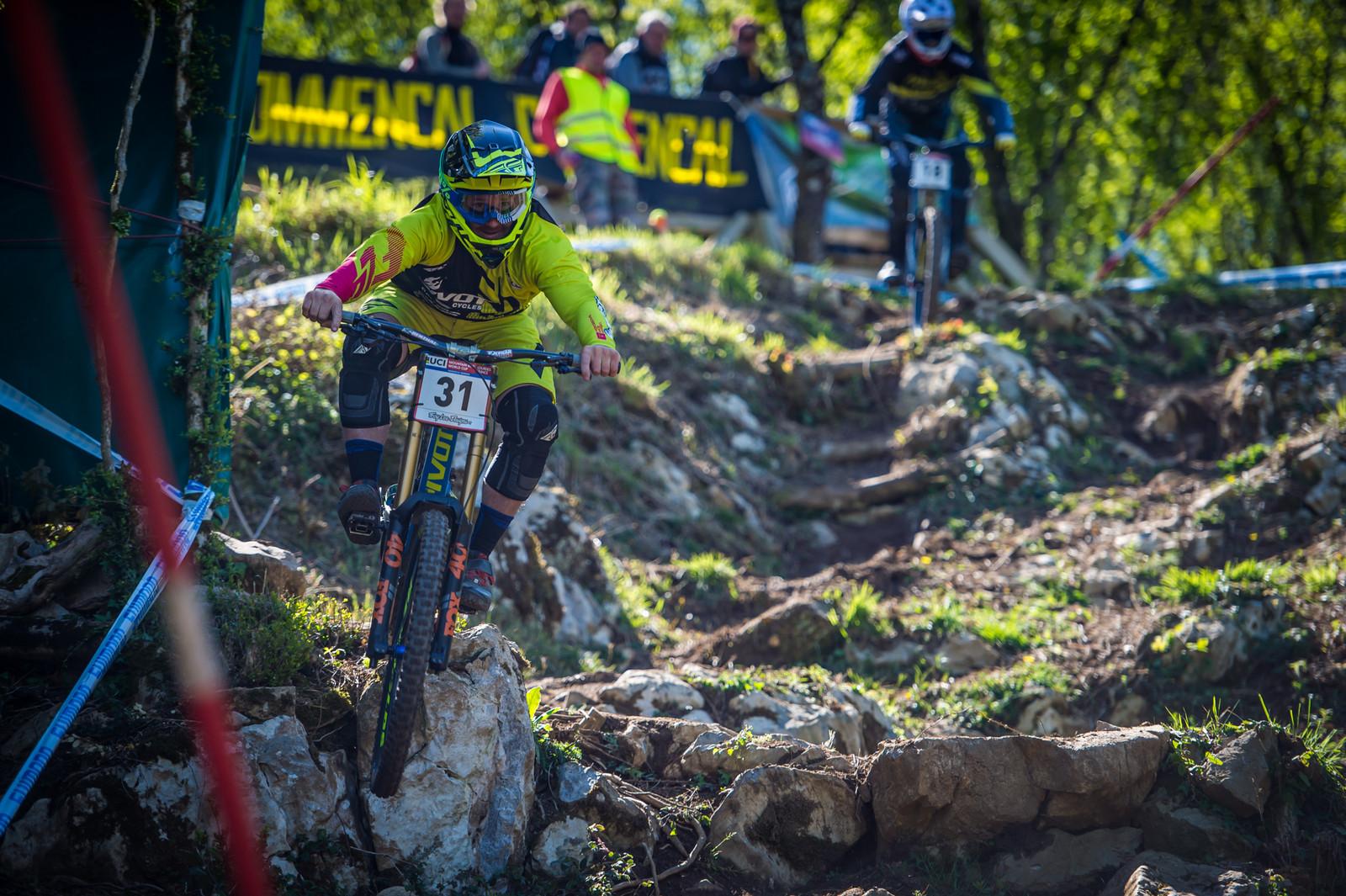 Rupert Chapman - Lourdes World Cup Timed Training Action Photos - Mountain Biking Pictures - Vital MTB