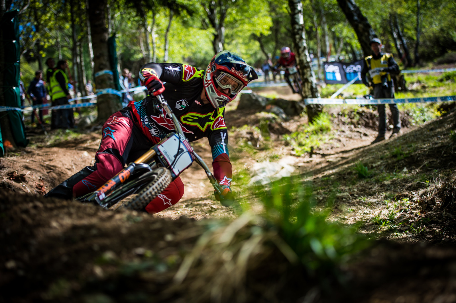 Aaron Gwin - Lourdes World Cup Timed Training Action Photos - Mountain Biking Pictures - Vital MTB
