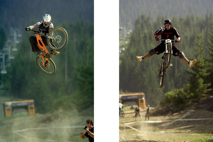 Crankworx 2004, Super T and Jordie Lunn - Crankworx of The Past - Photos from 2004-2007 - Mountain Biking Pictures - Vital MTB