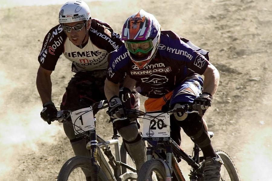 Crankworx 2004, Cedric Gracia and Eric Carter - Crankworx of The Past - Photos from 2004-2007 - Mountain Biking Pictures - Vital MTB