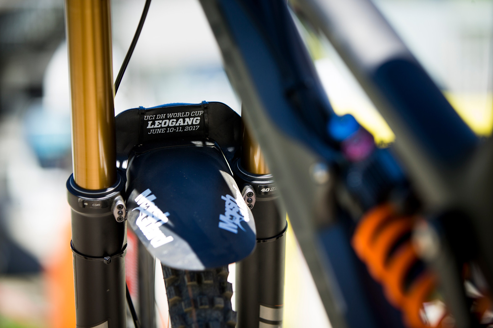 Custom FOX 40 Treatment - WINNING BIKE: Tahnee Seagrave's Prototype Transition - Mountain Biking Pictures - Vital MTB