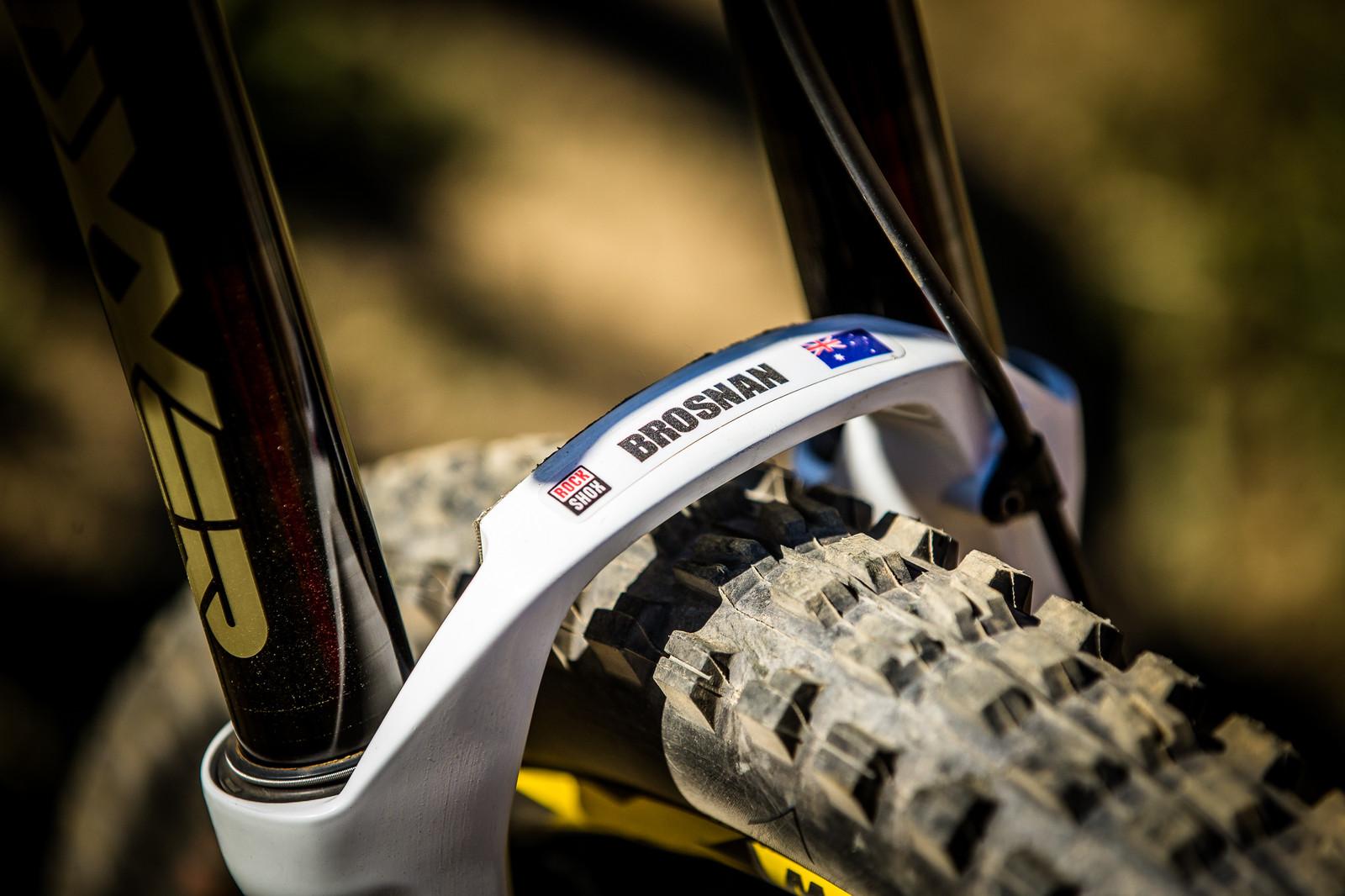 Troy's BoXXer Stickers - WINNING BIKE: Troy Brosnan's Canyon Sender - Mountain Biking Pictures - Vital MTB