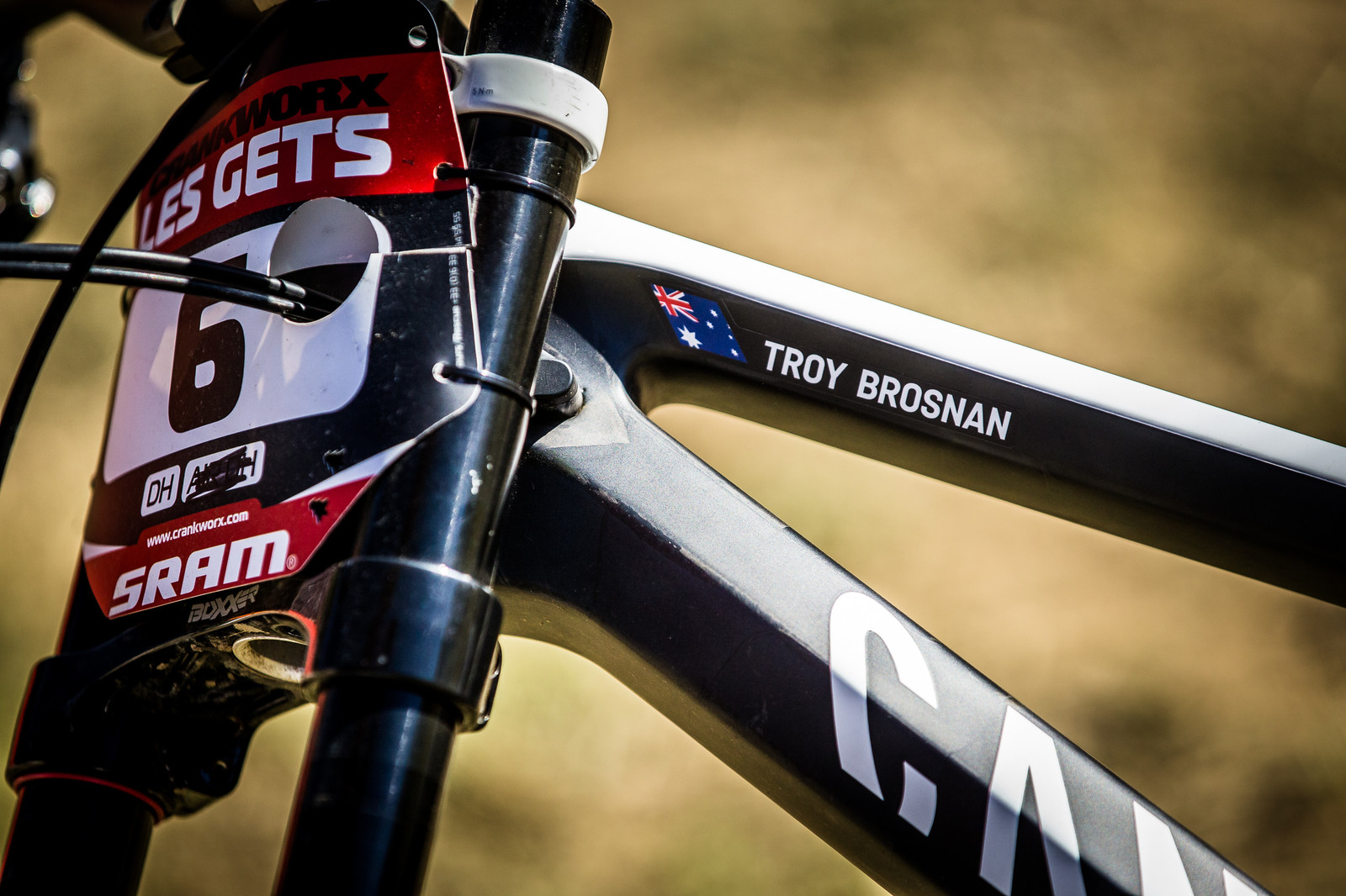 ID Badge - WINNING BIKE: Troy Brosnan's Canyon Sender - Mountain Biking Pictures - Vital MTB
