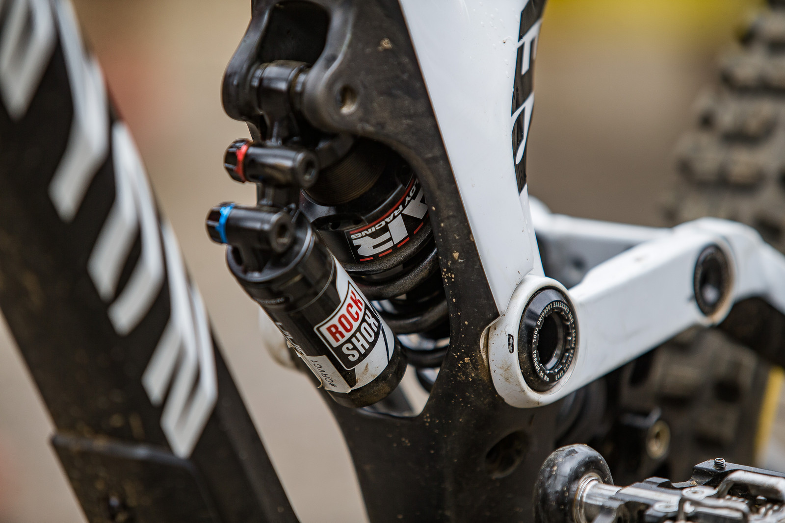 RockShox Vivid Coil with Super Alloy Racing Spring - WINNING BIKE: Troy Brosnan's Canyon Sender - Mountain Biking Pictures - Vital MTB