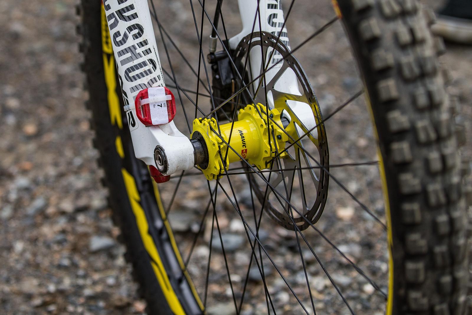RockShox BoXXer and Mavic Deemax Wheels - WINNING BIKE: Troy Brosnan's Canyon Sender - Mountain Biking Pictures - Vital MTB