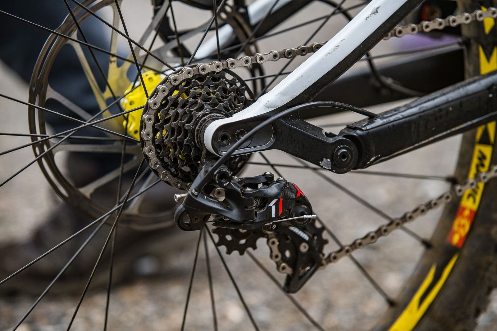 SRAM X0 DH 7-speed Drivetrain - WINNING BIKE: Troy Brosnan's Canyon Sender - Mountain Biking Pictures - Vital MTB