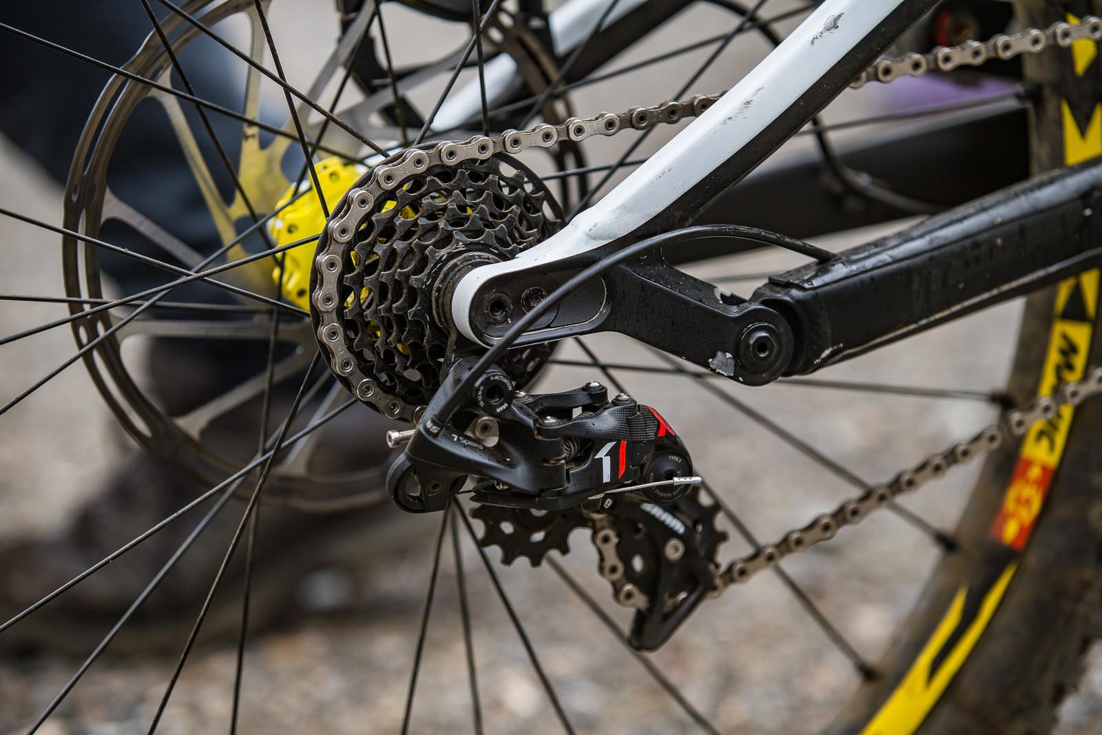 SRAM X0 DH 7-speed Drivetrain - WINNING BIKE: Troy Brosnan's Canyon Sender - Mountain Biking Pictures - Vital MTB