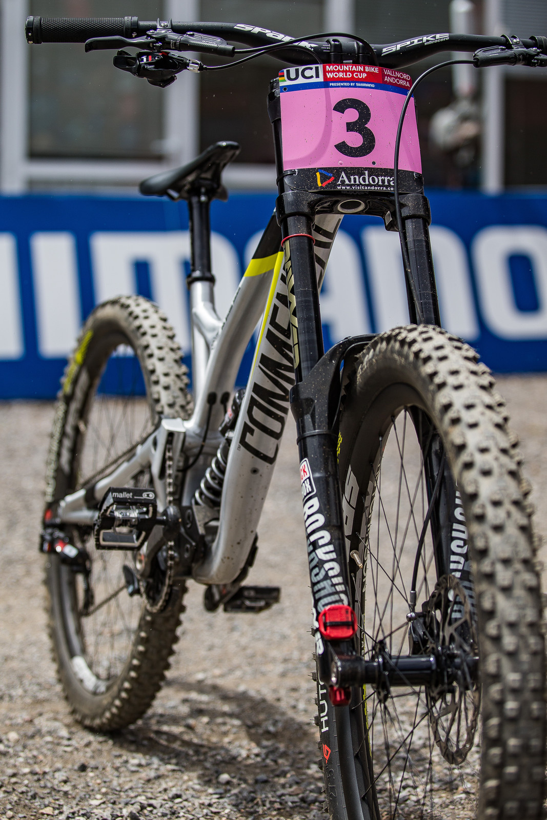 That 3 Will Be a 2 at Lenzerheide - WINNING BIKE: Myriam Nicole's Commencal Supreme DH V4 - Mountain Biking Pictures - Vital MTB