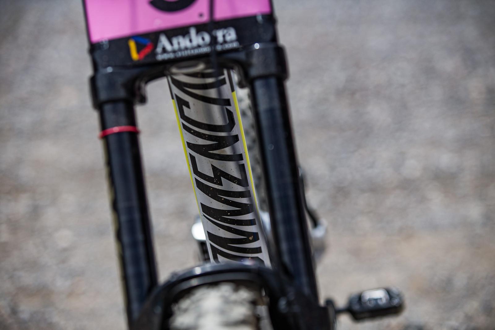 Supreme V4 Downtube - WINNING BIKE: Myriam Nicole's Commencal Supreme DH V4 - Mountain Biking Pictures - Vital MTB
